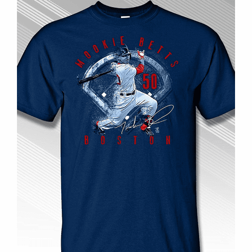 Mookie Betts Boston Star Grunge T-Shirt<br>Short or Long Sleeve<br>Youth Med to Adult 4X