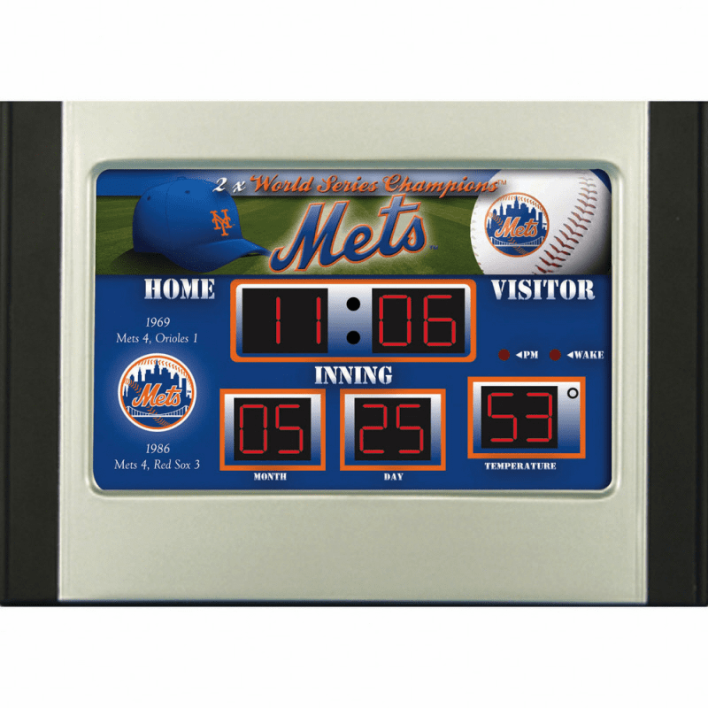 New York Mets Baseball Scoreboard Desk Alarm Clock