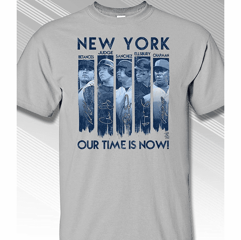 New York Our Time is Now T-Shirt<br>Short or Long Sleeve<br>Youth Med to Adult 4X