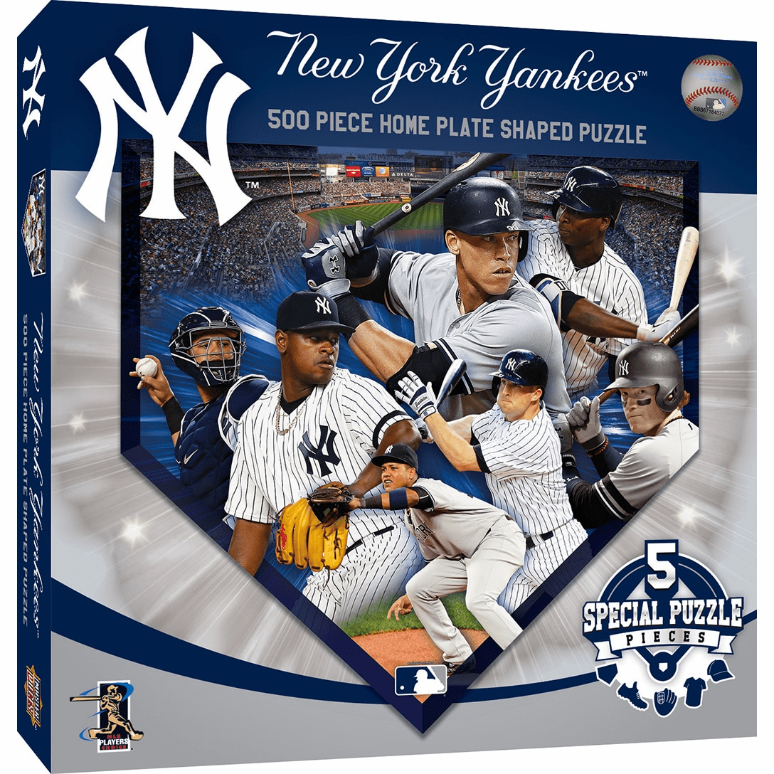 New York Yankees 500pc Home Plate Shaped Jigsaw Puzzle<br>ONLY 5 LEFT!