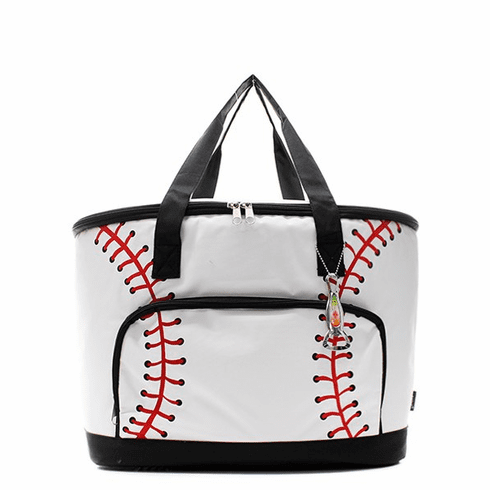 NGIL White Baseball Large Insulated Cooler Bag<br>ONLY 2 LEFT!