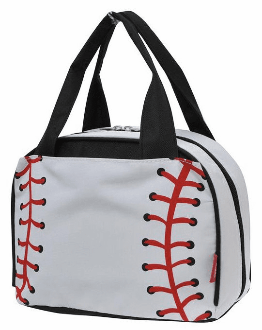 NGIL White Baseball Insulated Lunch Bag<br>LESS THAN 6 LEFT!