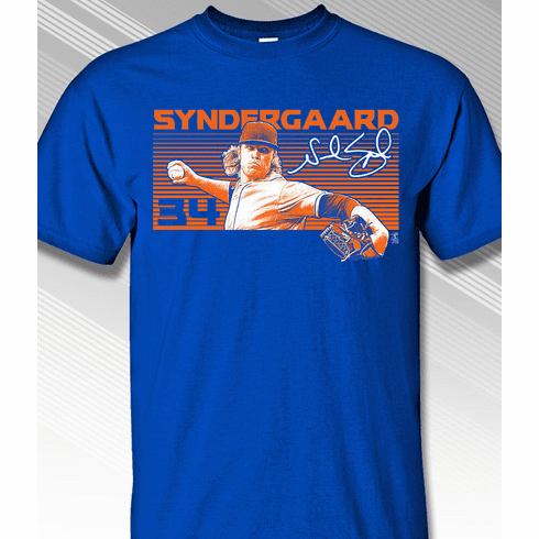 Noah Syndergaard 34 T-Shirt<br>Short or Long Sleeve<br>Youth Med to Adult 4X