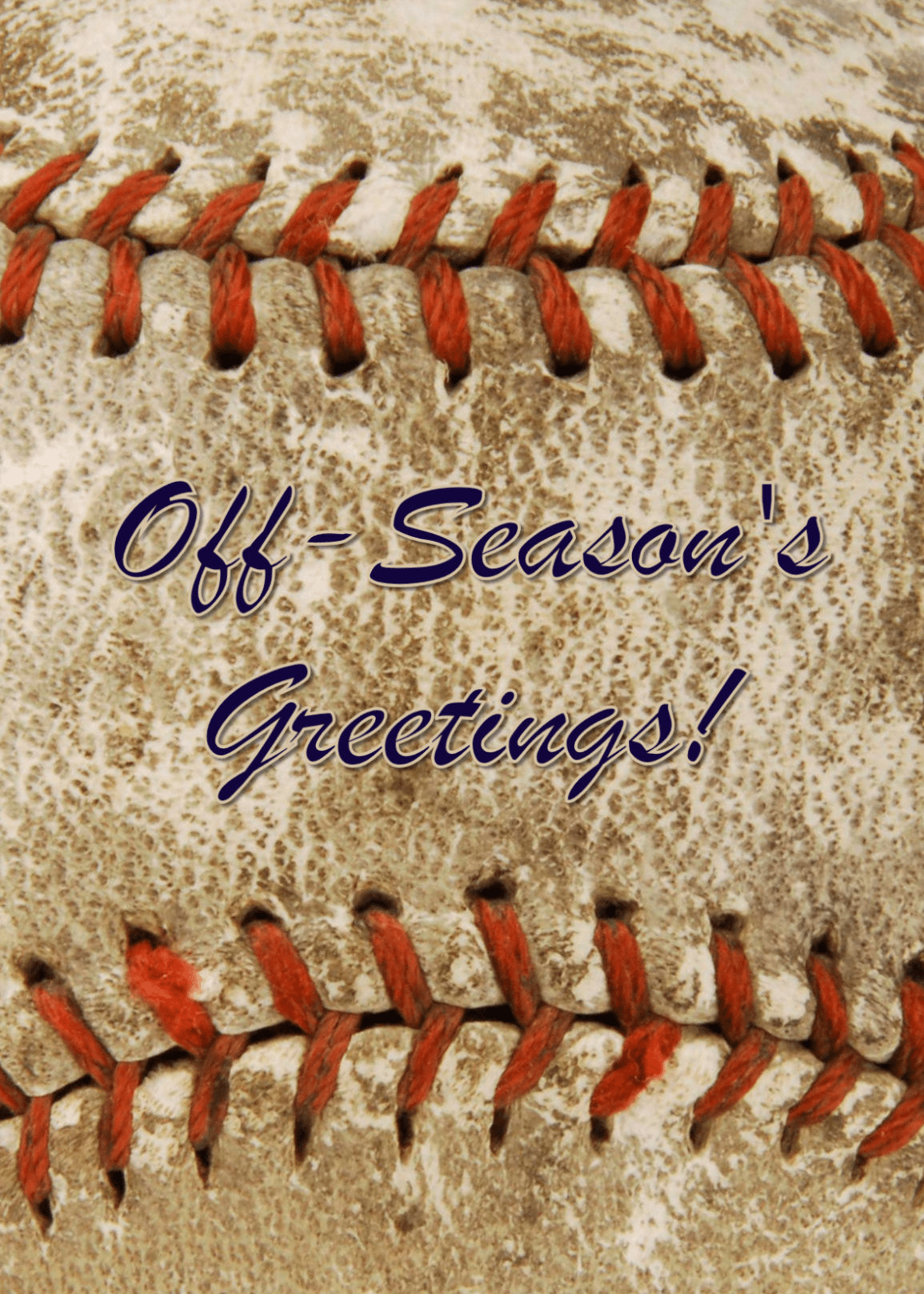 Personalized Old Baseball Holiday Cards<br>5 PACK MINIMUM!