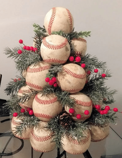 Used Baseballs Christmas Tree<br>SOLD OUT!