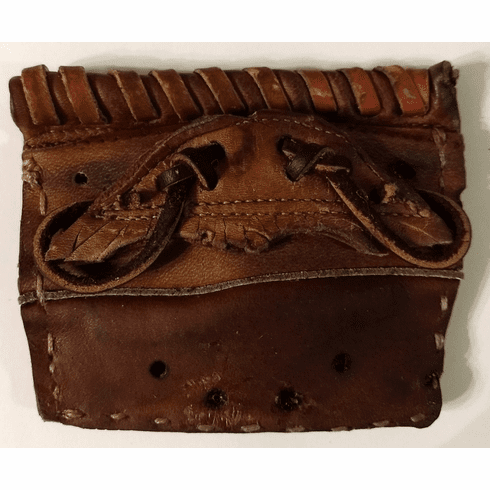 One-Of-A-Kind Handle Bar Mustache 1960's Wilson Baseball Glove Credit Card Wallet by Lucky Savage
