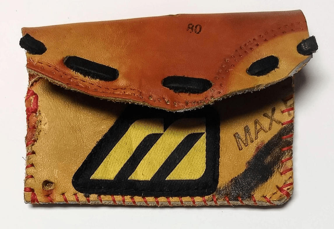 One-Of-A-Kind Mizuno Baseball Glove Credit Card ID Case by Lucky Savage