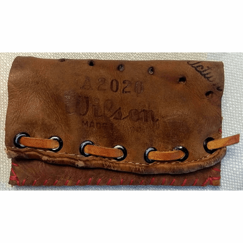 One-Of-A-Kind Nelson Fox Wilson Baseball Glove Credit Card ID Case by Lucky Savage
