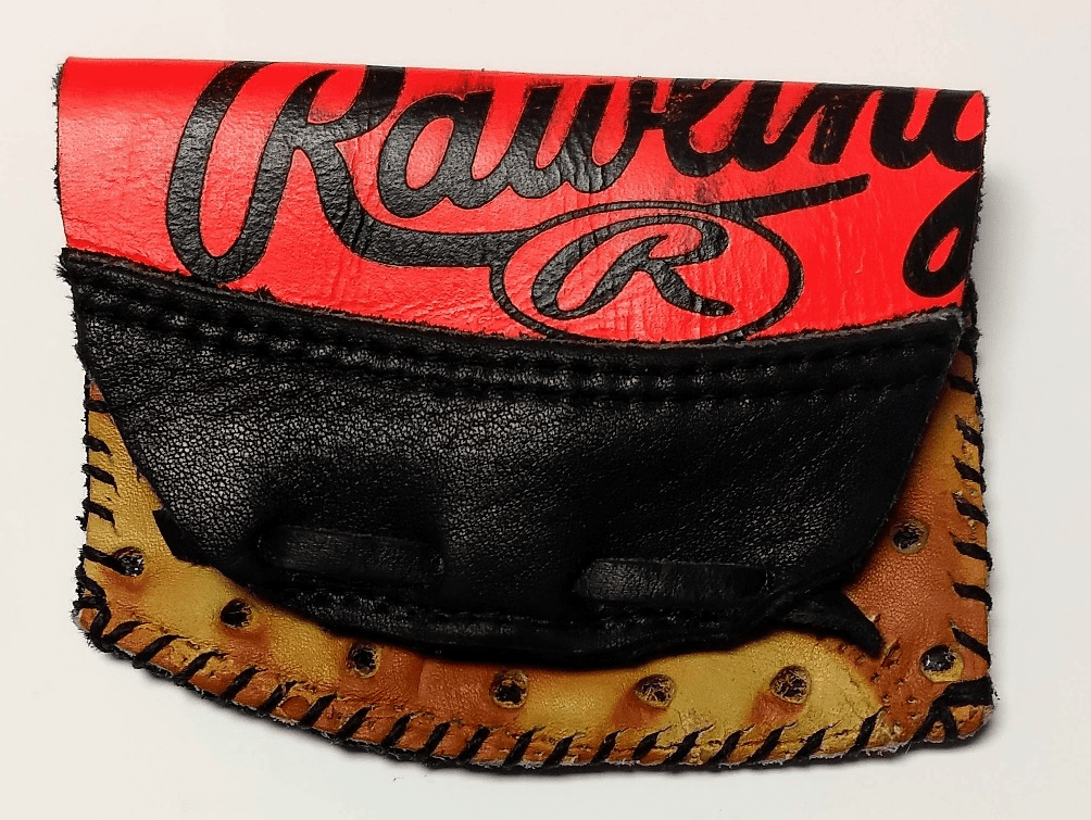 One-Of-A-Kind Rawlings Baseball Glove Credit Card Case / Small Wallet by Lucky Savage