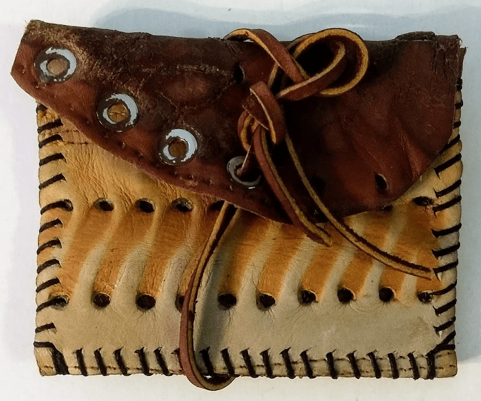 One-Of-A-Kind Rawlings Baseball Glove Credit Card Holder / Small Wallet by Lucky Savage
