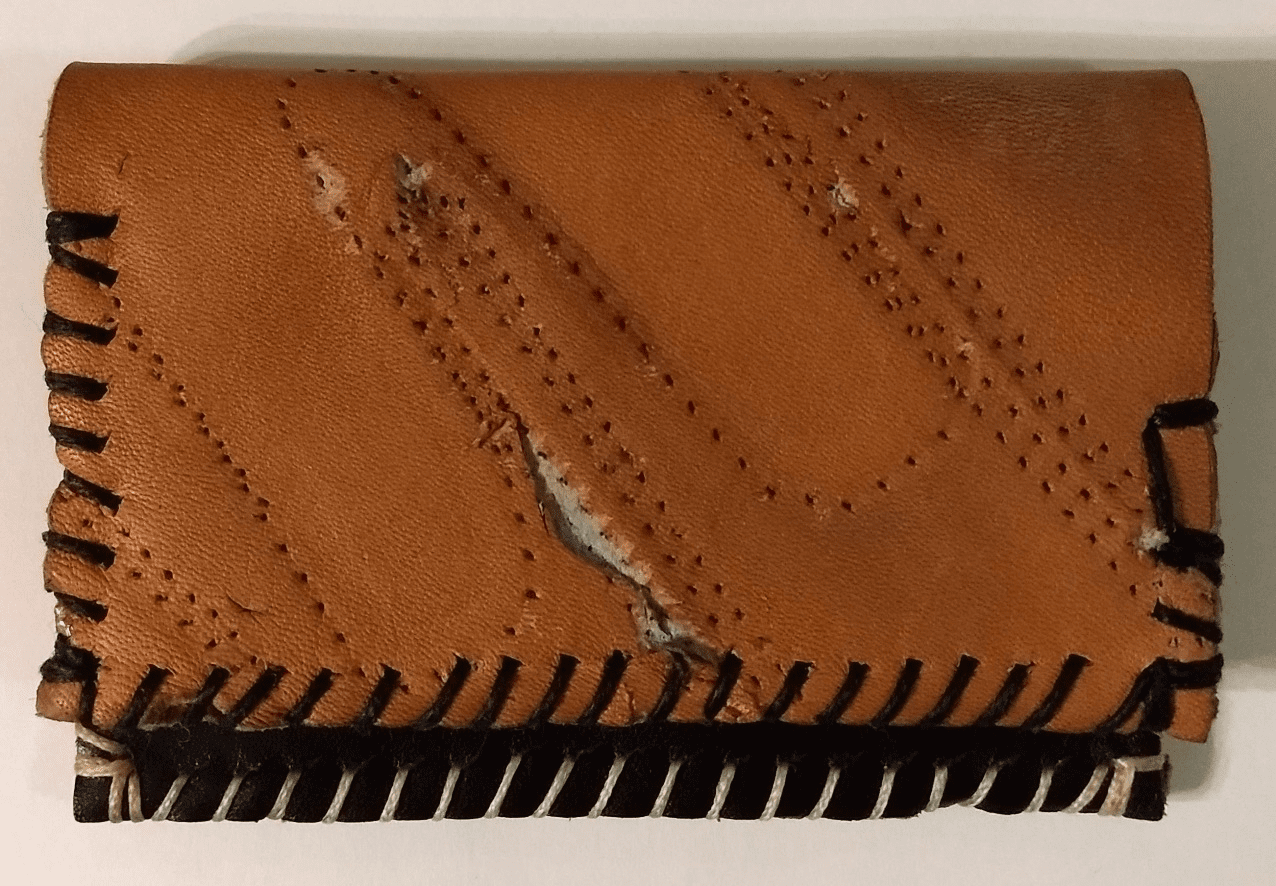 One-Of-A-Kind Rawlings Baseball Glove Credit Card ID Case by Lucky Savage