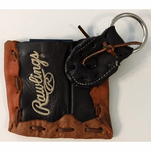 One-Of-A-Kind Rawlings Baseball Glove Business Card Holder / Credit Card ID Case with Snap Key Ring by Lucky Savage<br>CLAIMED!