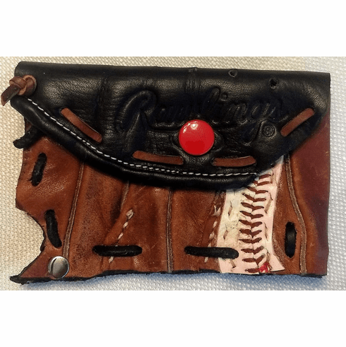 One-Of-A-Kind Rawlings Gold Glove Baseball Credit Card ID Case by Lucky Savage