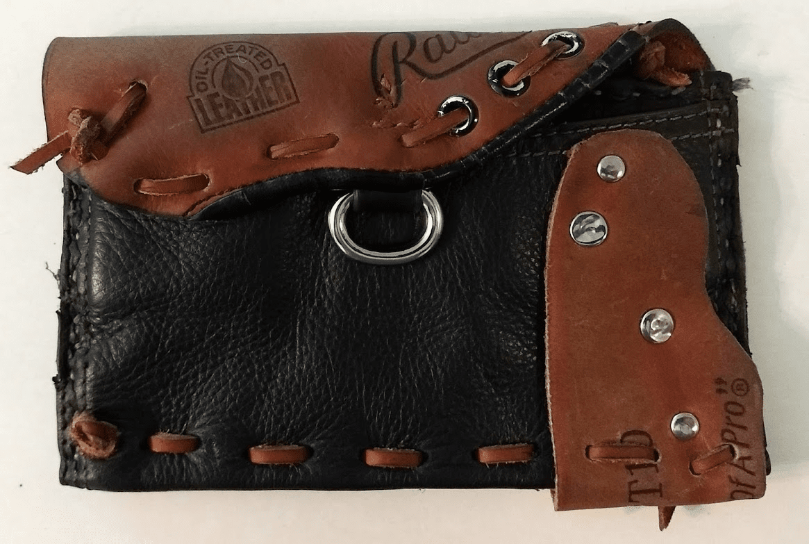 One-Of-A-Kind Rawlings Baseball Glove Magnetic Wallet by Lucky Savage