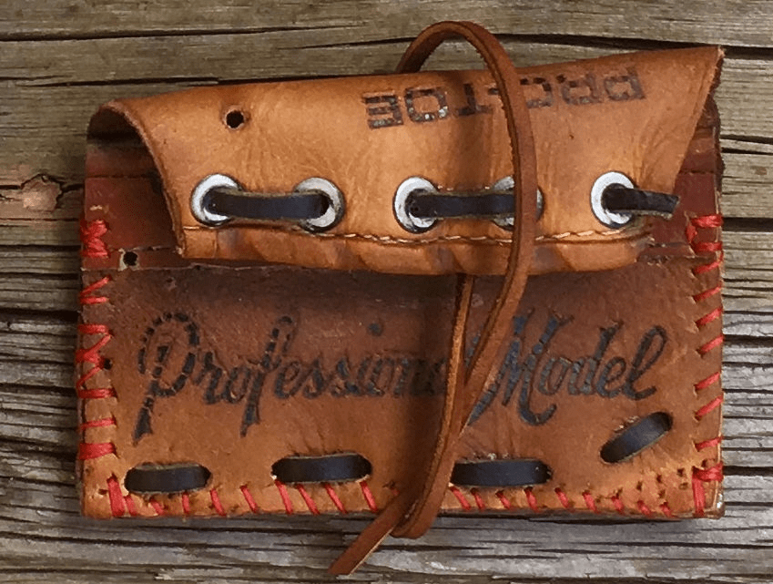 One-Of-A-Kind Wilson Baseball Glove Credit Card Case / Small Wallet by Lucky Savage