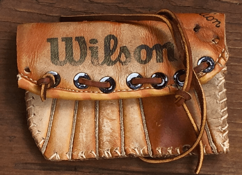 One-Of-A-Kind Wilson Baseball Glove Credit Card Case / Wallet by Lucky Savage<br>CLAIMED!