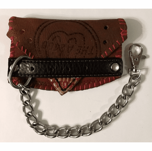 One-Of-A-Kind Wilson Baseball Glove Mini Wallet with Chain by Lucky Savage