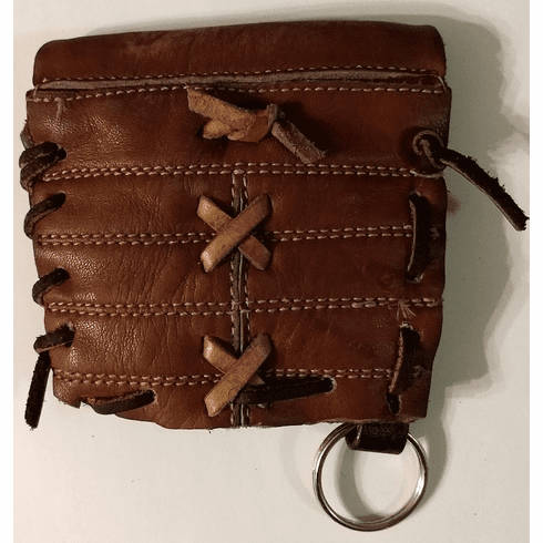 One-Of-A-Kind Wilson Baseball Glove Webbing Credit Card Wallet/Key Chain by Lucky Savage