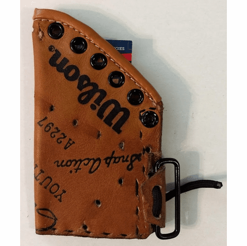 One-Of-A-Kind Wilson Baseball Glove Business Card Holder by Lucky Savage