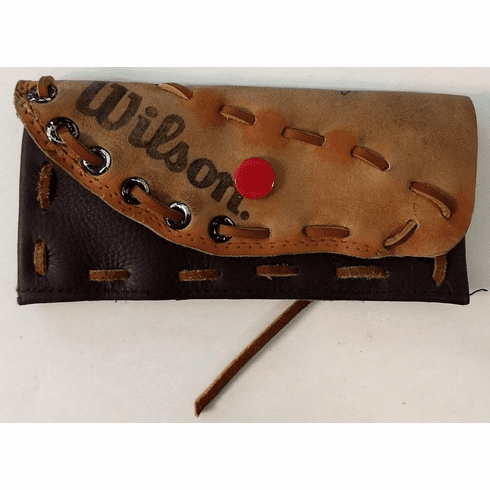 One-Of-A-Kind Wilson Baseball Glove Business Card Holder / Wallet by Lucky Savage<br>CLAIMED!