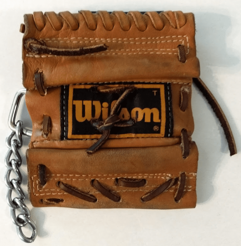 One-Of-A-Kind Wilson Baseball Glove Credit Card ID Holder / Wallet by Lucky Savage<br>CLAIMED!