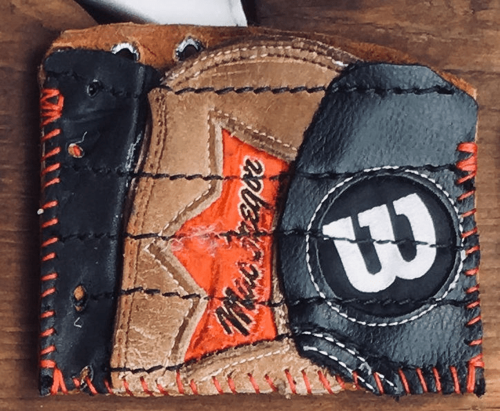 One-Of-A-Kind Wilson/MacGregor Baseball Glove Business Card Holder / Credit Card Wallet by Lucky Savage