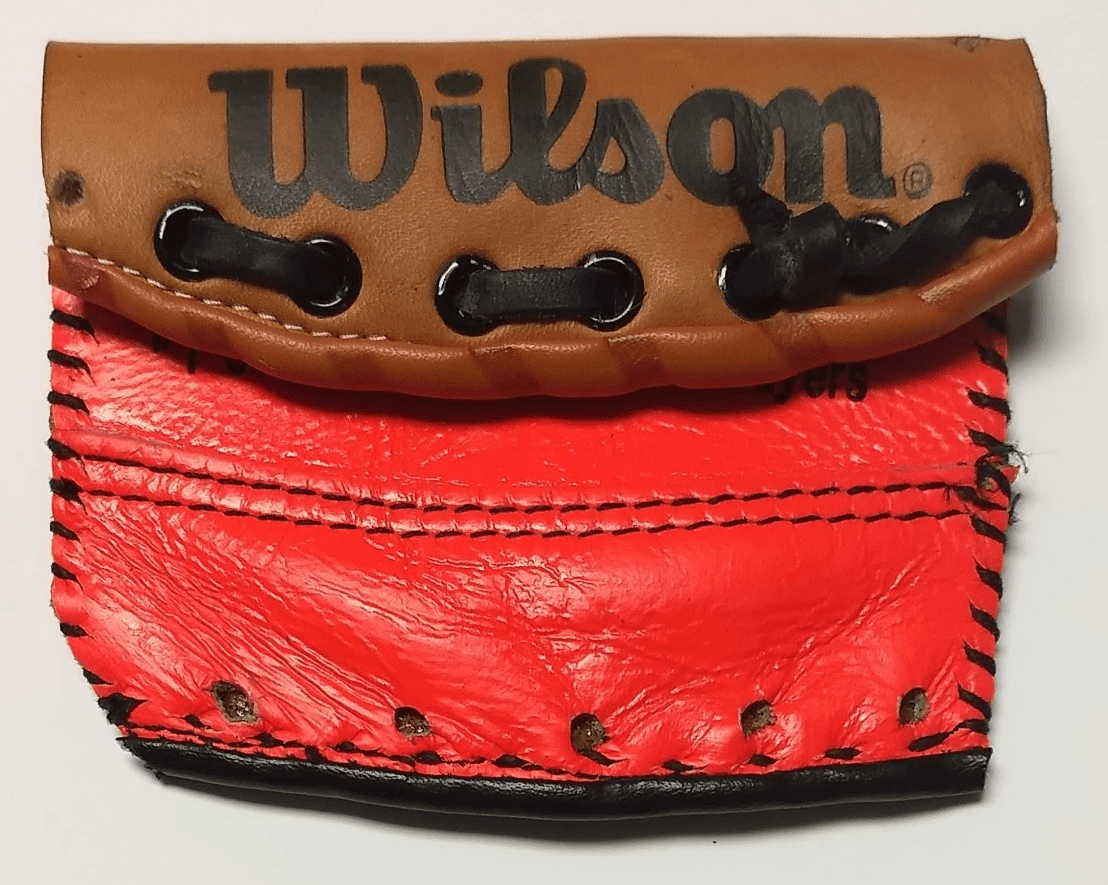 One-Of-A-Kind Wilson/Rawlings Baseball Glove Credit Card Case / Small Wallet by Lucky Savage