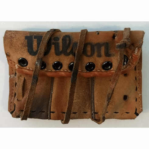 One-Of-A-Kind Wilson Softball Glove Business Card Holder / Wallet by Lucky Savage<br>CLAIMED!