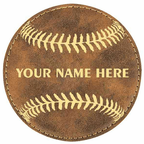Personalized Baseball Coaster Set<br>12 COLOR OPTIONS!