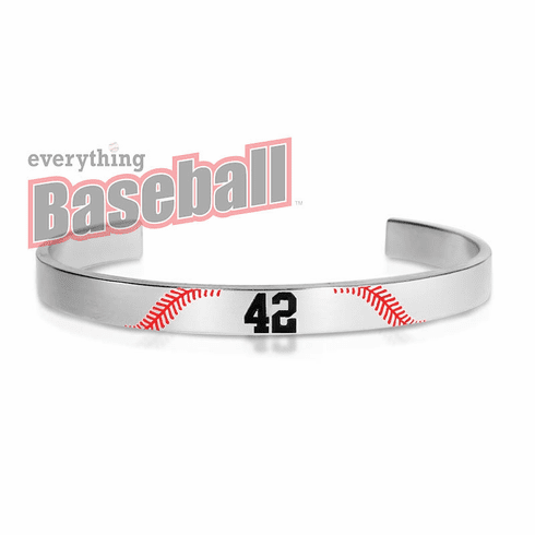 Personalized Baseball Number Bangle Bracelet
