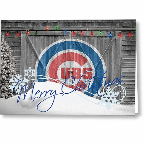 Personalized Chicago Cubs Christmas and Holiday Cards<br>5 DESIGNS!
