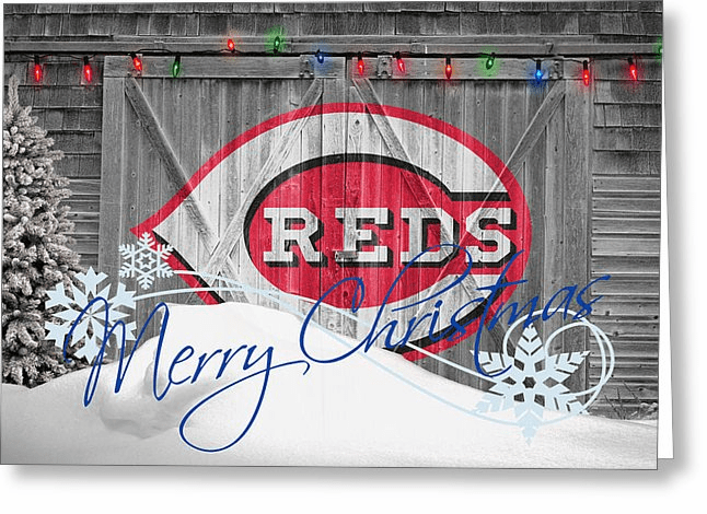 Personalized Cincinnati Reds Christmas and Holiday Cards<br>5 DESIGNS!