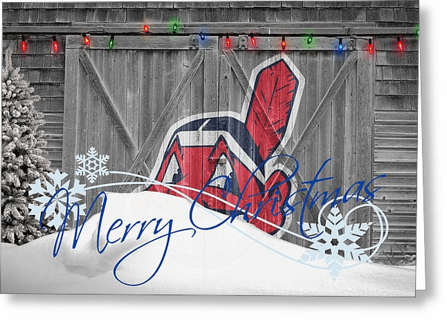 Personalized Cleveland Indians Christmas and Holiday Cards<br>5 DESIGNS!