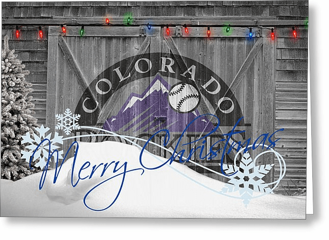 Personalized Colorado Rockies Christmas and Holiday Cards<br>5 DESIGNS!