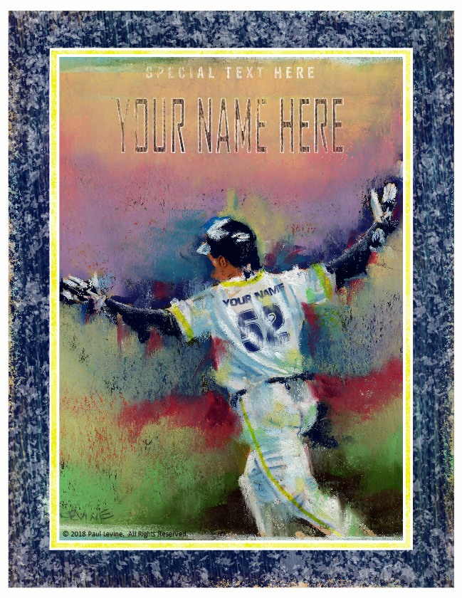 Personalized Custom Baseball Player Art - Game Winner