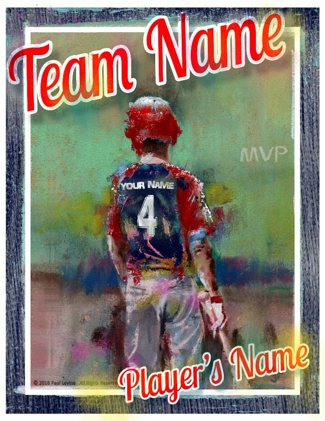 Personalized Custom Baseball Player Art - On Deck Batter