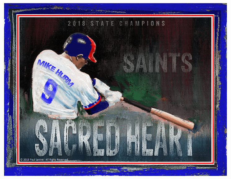 Personalized Custom Baseball Player Art - Perfect Swing