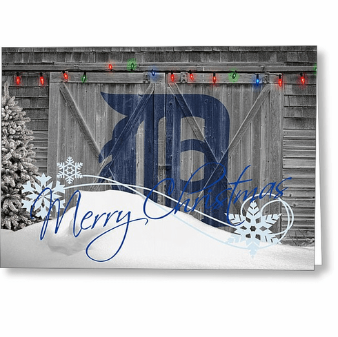 quality design 08a29 829c7 Personalized Detroit Tigers Christmas and Holiday Cards<br>5 ...