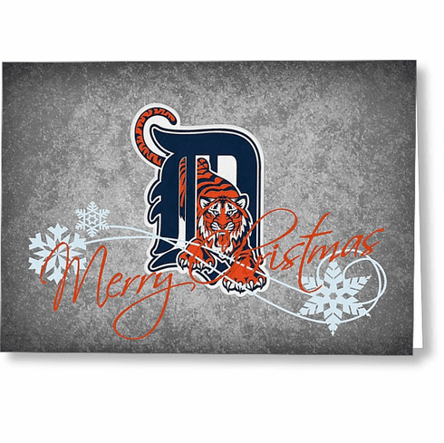 quality design 65fd3 41910 Personalized Detroit Tigers Christmas and Holiday Cards<br>5 ...