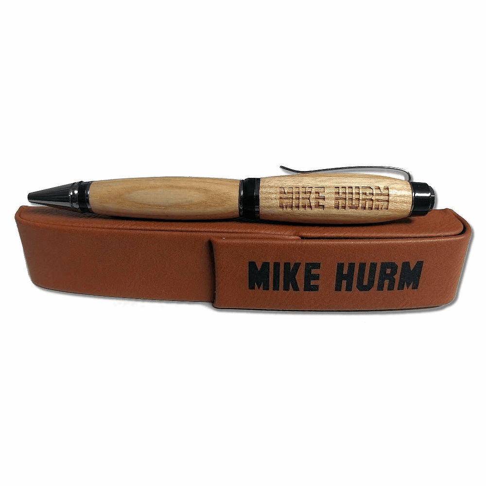 Personalized Game Used Wood Baseball Bat Pen with Case