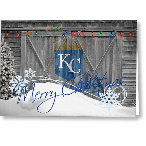 Personalized Kansas City Royals Christmas and Holiday Cards<br>4 DESIGNS!