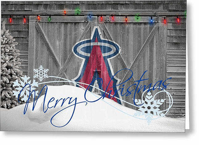 Personalized Los Angeles Angels Christmas and Holiday Cards<br>5 DESIGNS!