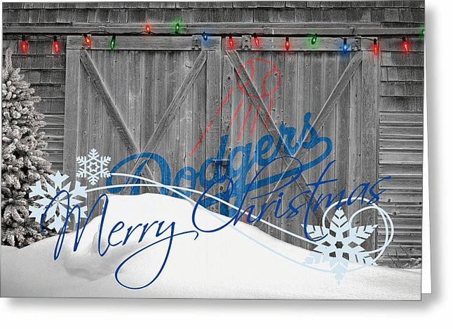 Personalized Los Angeles Dodgers Christmas and Holiday Cards<br>5 DESIGNS!