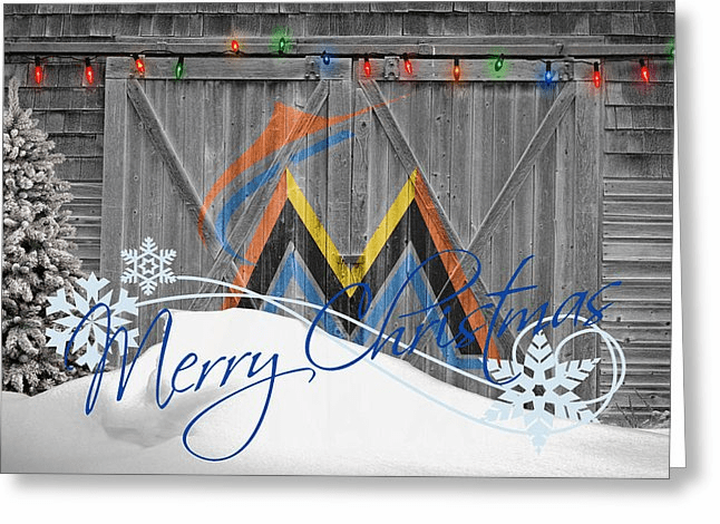 Personalized Miami Marlins Christmas and Holiday Cards<br>2 DESIGNS!