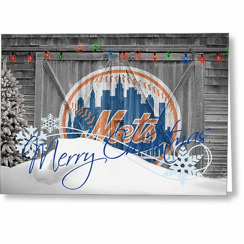 Personalized New York Mets Christmas and Holiday Cards<br>5 DESIGNS!