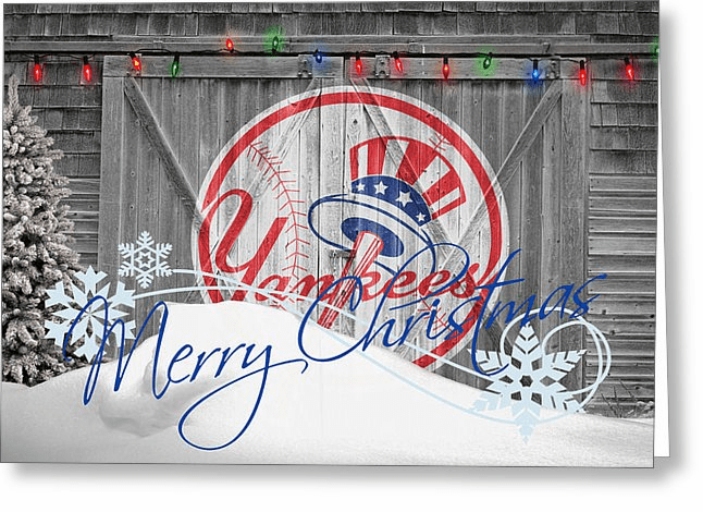 Personalized New York Yankees Christmas and Holiday Cards<br>6 DESIGNS!