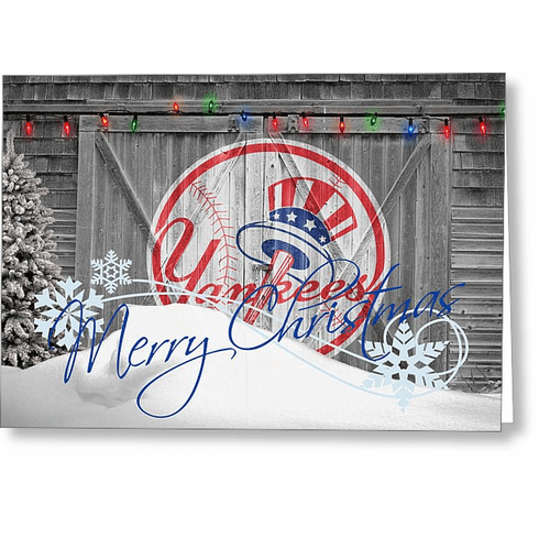 personalized new york yankees christmas and holiday cards br 6 designs