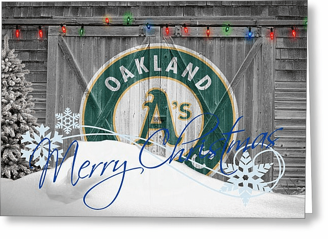 Personalized Oakland Athletics Christmas and Holiday Cards<br>5 DESIGNS!