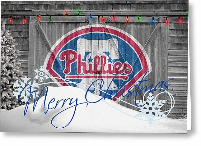 Personalized Philadelphia Phillies Christmas and Holiday Cards<br>5 DESIGNS!