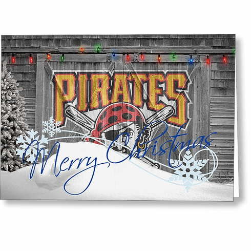 Personalized Pittsburgh Pirates Christmas and Holiday Cards<br>5 DESIGNS!